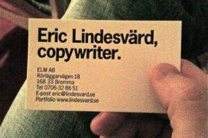 Eric Lindesvärd Marknadskommunikation