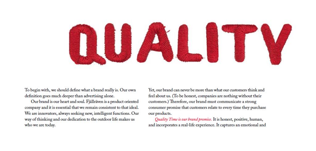 Fjällrävens friluftsmanifest, Quality Time, del 1
