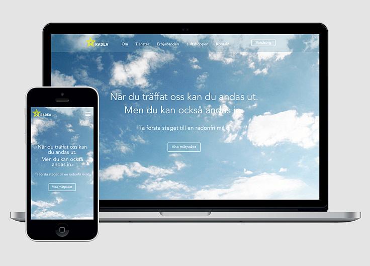 Radea, responsiv webbsajt