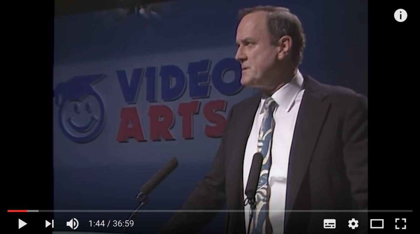 Kommunikationsstrategi, John Cleese on creativity