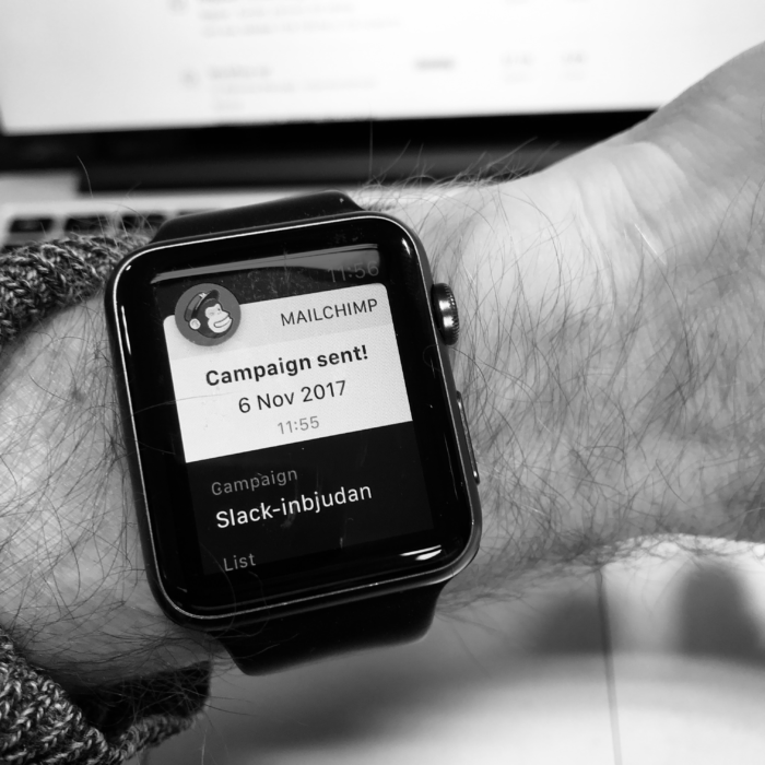 Marketing Automation, Mailchimp på Apple Watch