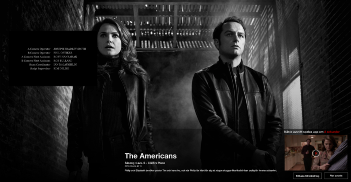 Bildkomposition, förlaga, The Americans, Netflix